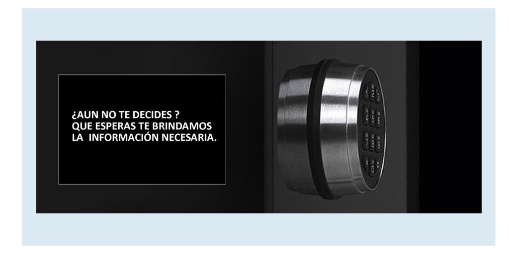 Tipos de cerraduras para cajas de seguridad en Lima