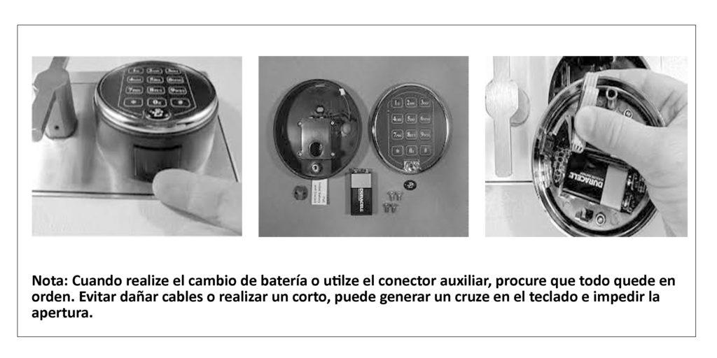 Cajas fuertes con conectores auxliares para la apertura en caso de emergencia