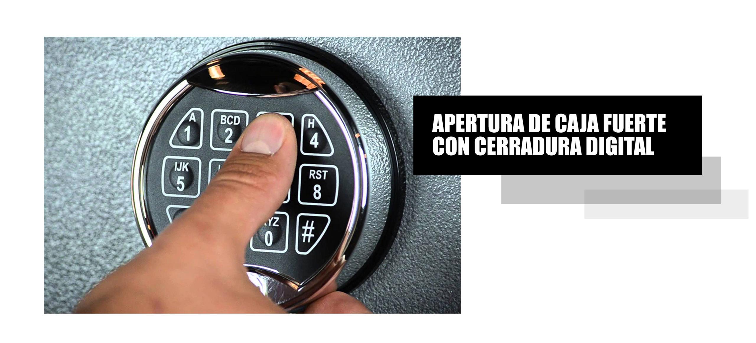 Apertura de caja fuerte con cerradura electrónica o digital en Lima